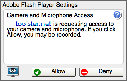 Take a photo - webcam access
