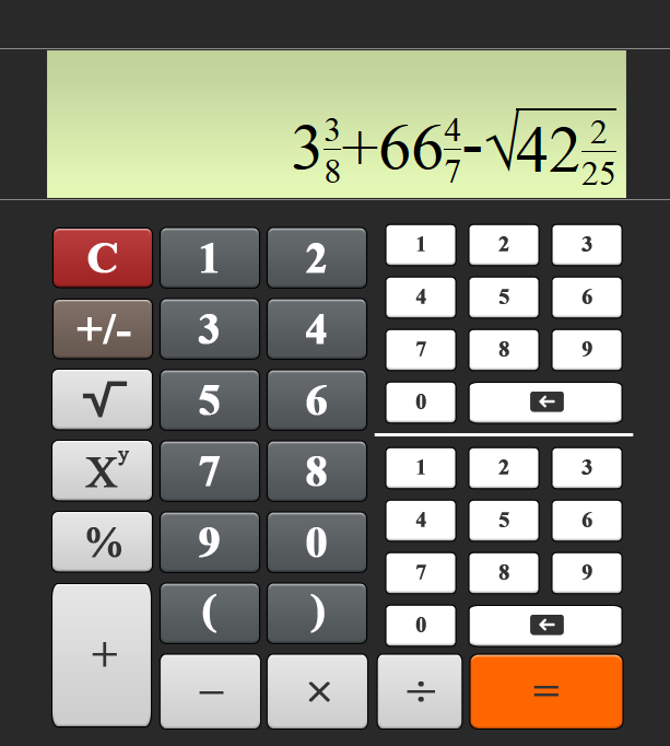 Калькулятор дробей онлайн